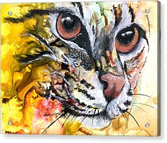 Acrylic Print featuring the painting Intensity by Sherry Shipley