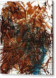 Intensive Abstract Expressionism Series 46.0710 Acrylic Print by Kris Haas