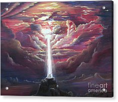 Intercession Through Worship Acrylic Print by Kathy Brusnighan
