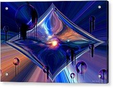 Acrylic Print featuring the digital art Interdimensional Portal by Linda Sannuti