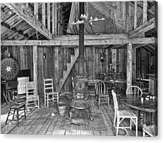 Interior Criterion Hall Saloon - Montana Territory Acrylic Print by Daniel Hagerman