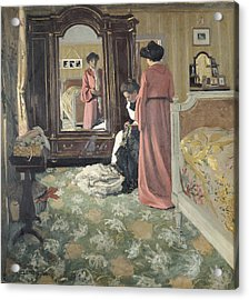 Interior Acrylic Print by Felix Edouard Vallotton