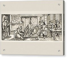 Interior Of A 16th Century Kitchen Acrylic Print by Vintage Design Pics