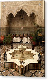 Interior Of A Traditional Riad In Fez Acrylic Print