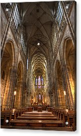 Acrylic Print featuring the photograph Interior Of Saint Vitus Cathedral by Gabor Pozsgai