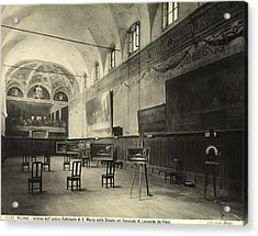 Interior Of The Dining Hall Of The Church Of Santa Maria Delle Grazie Milan Acrylic Print by Alinari