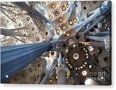 Interior Of The Gaudi's Sagrada Familia In Barcelona Acrylic Print