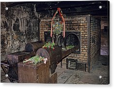 Interior View At Auschwitz Acrylic Print by Kenneth Garrett