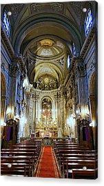 Interior View Of Santi Vincenzo E Anastasio A Fontana Di Trevi In Rome Italy Acrylic Print