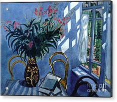 Interior With Flowers Acrylic Print