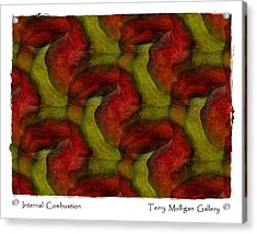 Internal Combustion Acrylic Print by Terry Mulligan