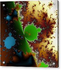 Internal Mandelbrot Blue Acrylic Print