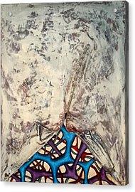 Internally Unzipped Acrylic Print by Nancy Mueller