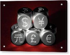 International Currency Symbols II Acrylic Print