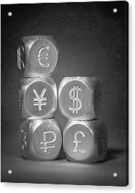 International Currency Symbols Acrylic Print