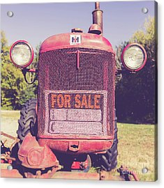 Acrylic Print featuring the photograph International Harvester Farmall Cub Vintage Tractor by Edward Fielding