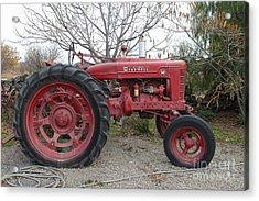 International Harvester Mccormick Farmall Farm Tractor . 7d10320 Acrylic Print by Wingsdomain Art and Photography