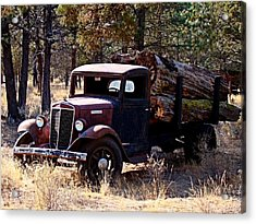 International Log Truck Acrylic Print by Nick Kloepping
