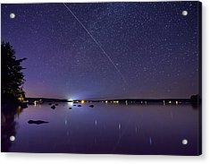 Acrylic Print featuring the photograph International Space Station Over Branch Lake by Kirkodd Photography Of New England
