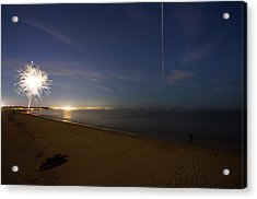 Acrylic Print featuring the photograph International Space Station Over Old Orchard Beach Maine by Kirkodd Photography Of New England