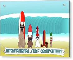 International Surf Competition Acrylic Print