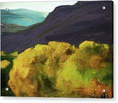 Interpretation Of Wyoming Autumn Acrylic Print