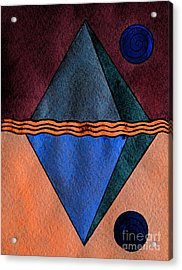 Interstellar Geometry Acrylic Print by Norma Appleton