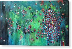 Acrylic Print featuring the painting Interstellar, I Want To Paint It Black by Laurie Maves ART