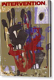 Intervention Acrylic Print by Noredin Morgan