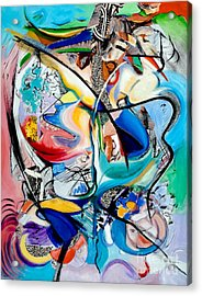 Acrylic Print featuring the painting Intimate Glimpses - Journey Of Life by Kerryn Madsen-Pietsch