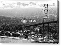 Into North Vancouver Mono Acrylic Print by John Rizzuto