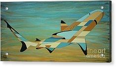 Into The Blue Shark Painting Acrylic Print