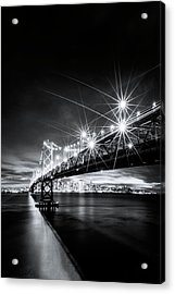 Into The City, Black And White Acrylic Print by Vincent James