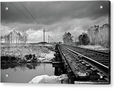 Into The Distance Acrylic Print by Matthew Angelo