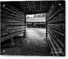 Into The Dogtrot Barn Acrylic Print by Elijah Knight