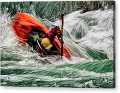 Acrylic Print featuring the photograph Into The Drink by Brad Allen Fine Art