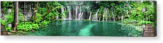 Into The Waterfalls - Plitvice Lakes National Park Croatia Acrylic Print