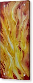 Into-the-fire-ii Acrylic Print by Nancy Newman