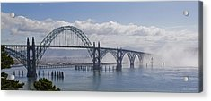Into The Fog At Newport Acrylic Print