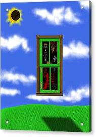Into The Green Window Acrylic Print