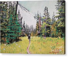 Acrylic Print featuring the painting Into The Hike by Terri Thompson