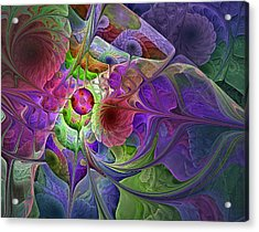 Acrylic Print featuring the digital art Into The Imaginarium  by NirvanaBlues