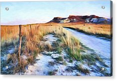 Acrylic Print featuring the digital art Into The Kansas Badlands by Tyler Findley