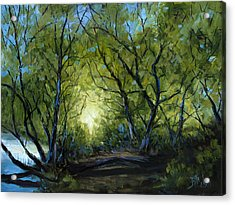 Acrylic Print featuring the painting Into The Light by Billie Colson