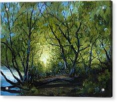 Into The Light Acrylic Print by Billie Colson