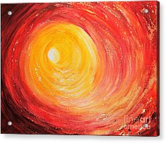 Acrylic Print featuring the painting Into The Light by Teresa Wegrzyn