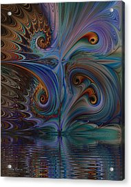 Acrylic Print featuring the digital art Into The Mystic by Kim Redd