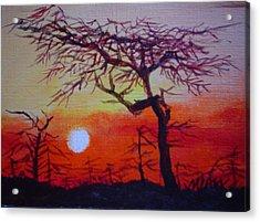 Into The Night Acrylic Print by Min Wang