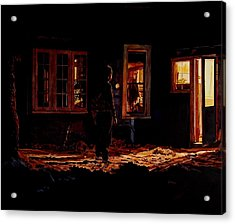Into The Night Acrylic Print by Valerie Patterson