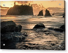 Acrylic Print featuring the photograph Into The Sea - Ruby Beach by Expressive Landscapes Fine Art Photography by Thom